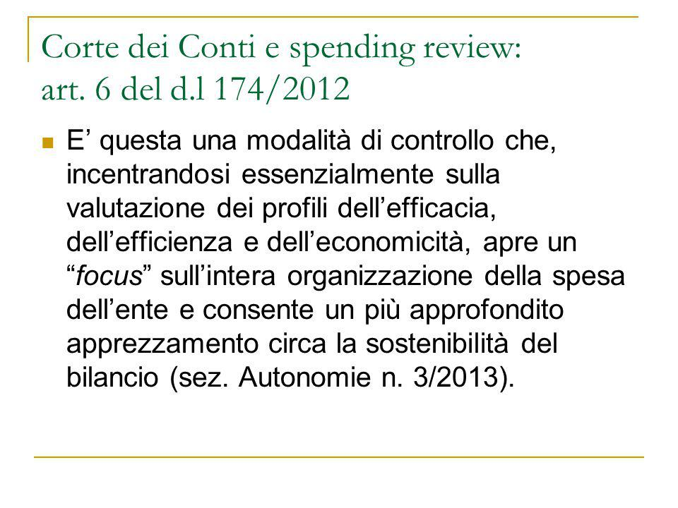 Corte dei Conti e spending review: art.