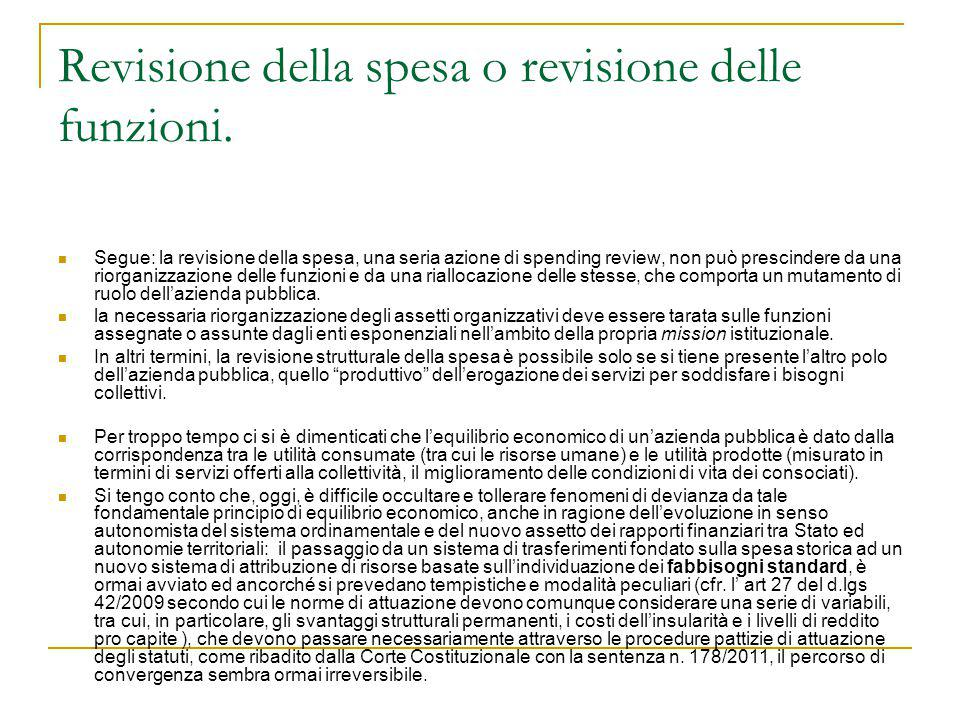 Misure specifiche contenute nei decreti del 2012 sulla spending review.