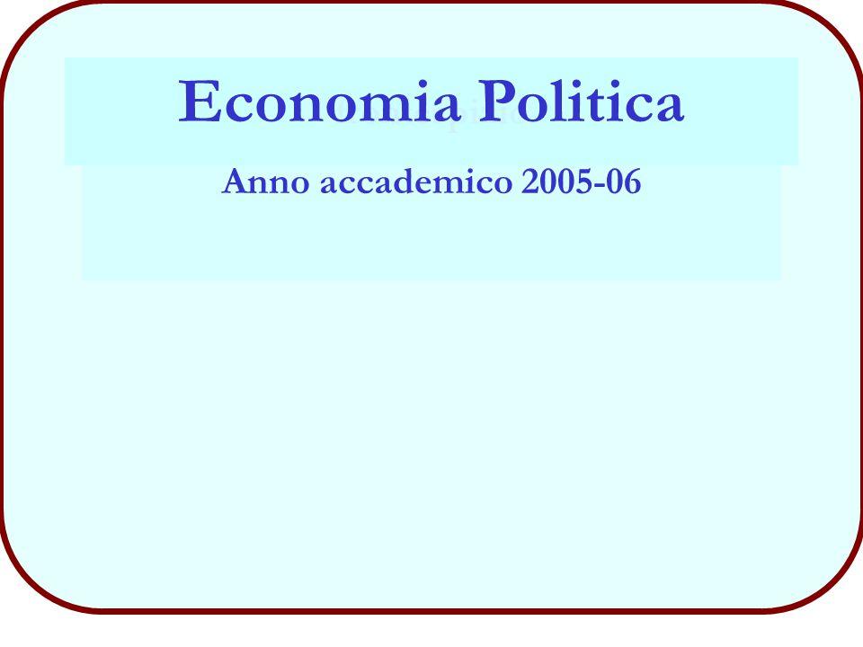 frontespizio Economia Politica Anno accademico 2005-06