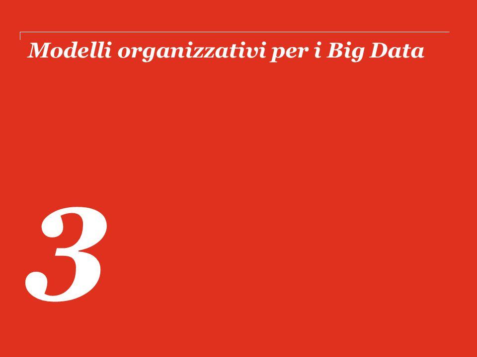 Modelli organizzativi per i Big Data 3