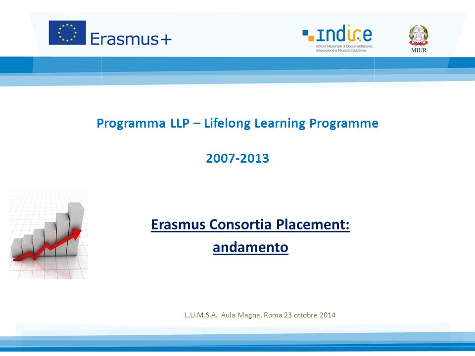 Programma LLP – Lifelong Learning Programme 2007-2013 Erasmus Consortia Placement: andamento L.U.M.S.A.
