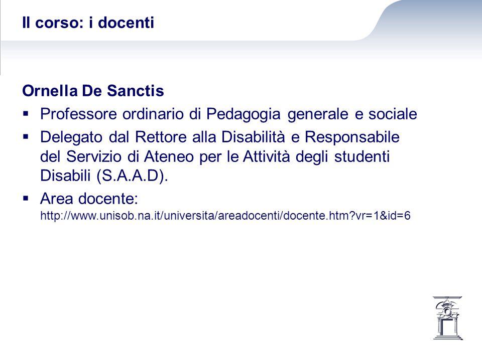 Il corso: i docenti Anna Patrizia Farina  sociologa e specialista nella gestione di supporti didattici per studenti ciechi e ipovedenti.