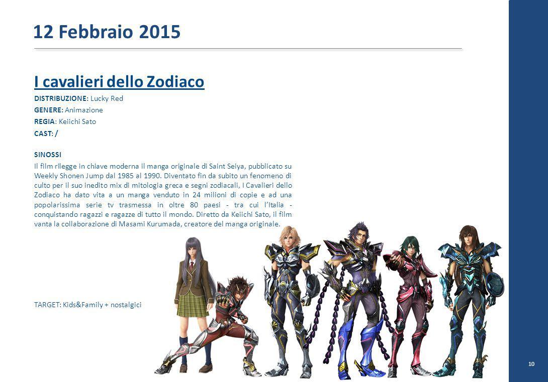 I cavalieri dello Zodiaco DISTRIBUZIONE: Lucky Red GENERE: Animazione REGIA: Keiichi Sato CAST: / SINOSSI Il film rilegge in chiave moderna il manga o