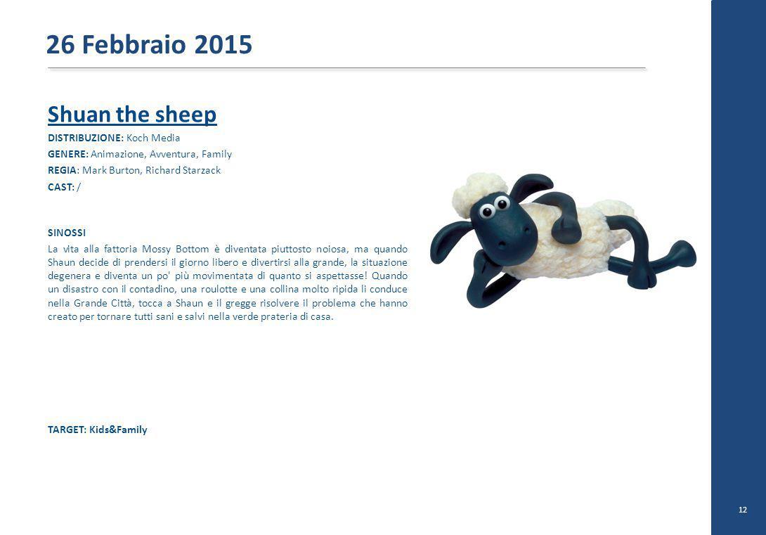 Shuan the sheep DISTRIBUZIONE: Koch Media GENERE: Animazione, Avventura, Family REGIA: Mark Burton, Richard Starzack CAST: / SINOSSI La vita alla fatt