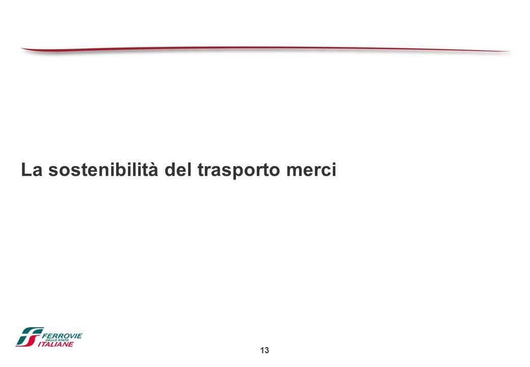 13 La sostenibilità del trasporto merci
