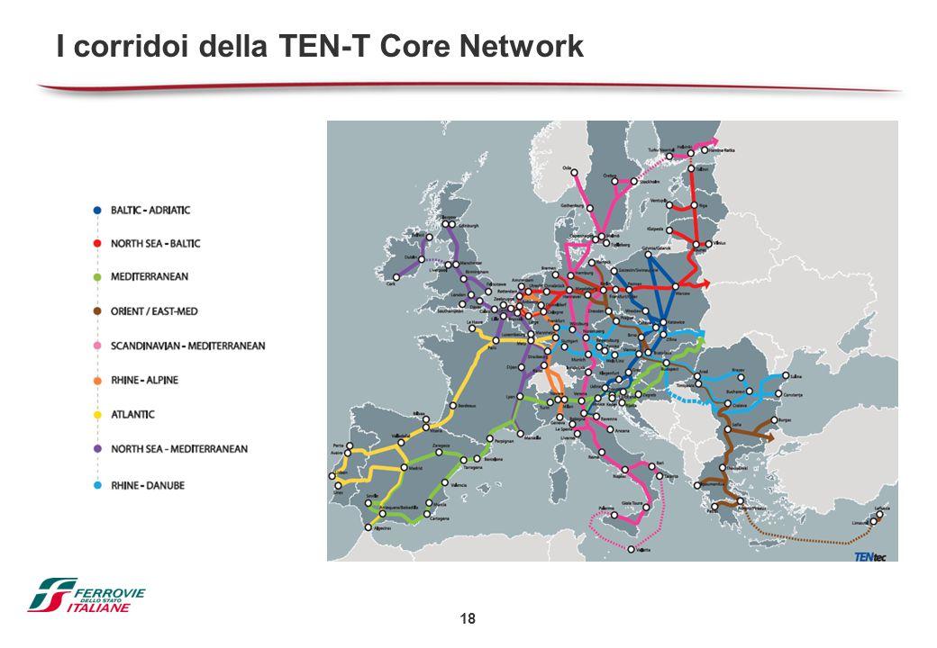 18 I corridoi della TEN-T Core Network