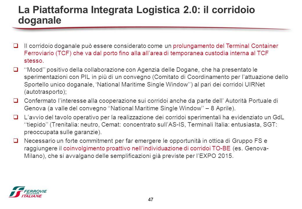 47  Il corridoio doganale può essere considerato come un prolungamento del Terminal Container Ferroviario (TCF) che va dal porto fino alla all'area d