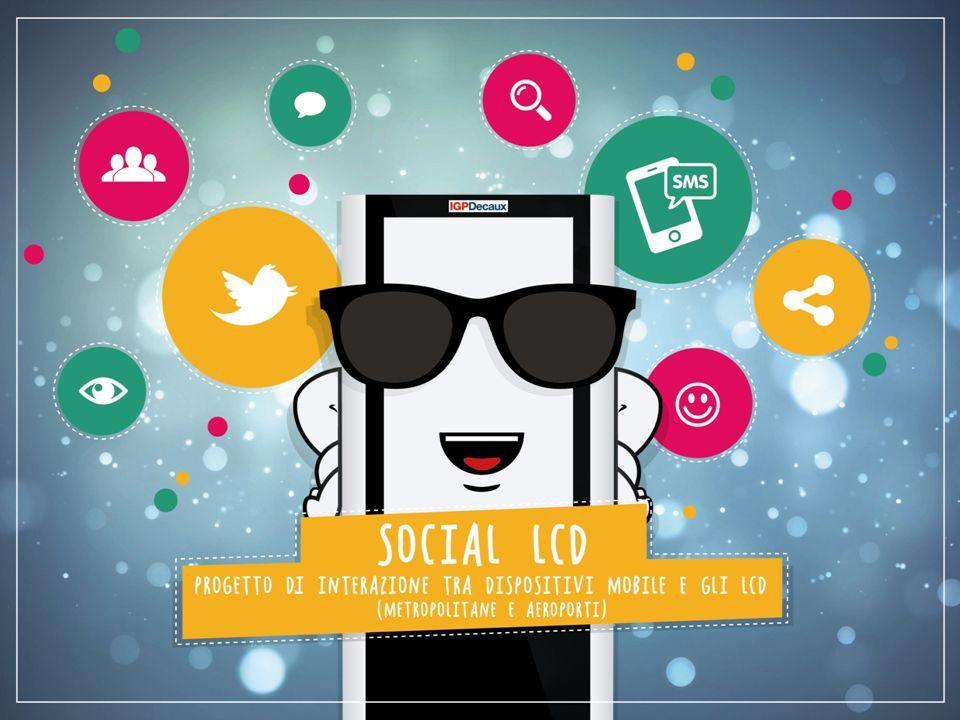 2 L'idea 2 Pubblicare dei contenuti provenienti dal Socialmedia Twitter sugli LCD delle Metropolitane e degli Aeroporti (in tempo reale)