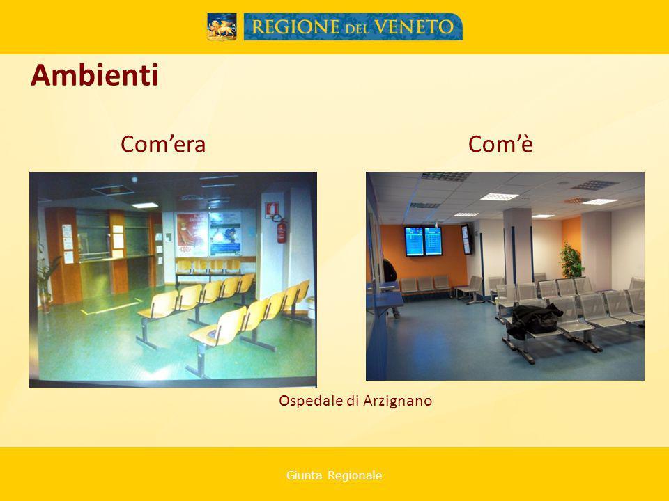 Giunta Regionale Ospedale di Arzignano Ambienti Com'eraCom'è