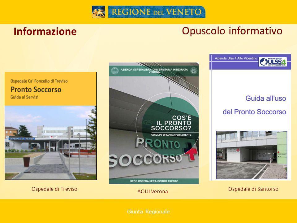 Giunta Regionale Ospedale di Treviso Informazione Ospedale di Santorso AOUI Verona