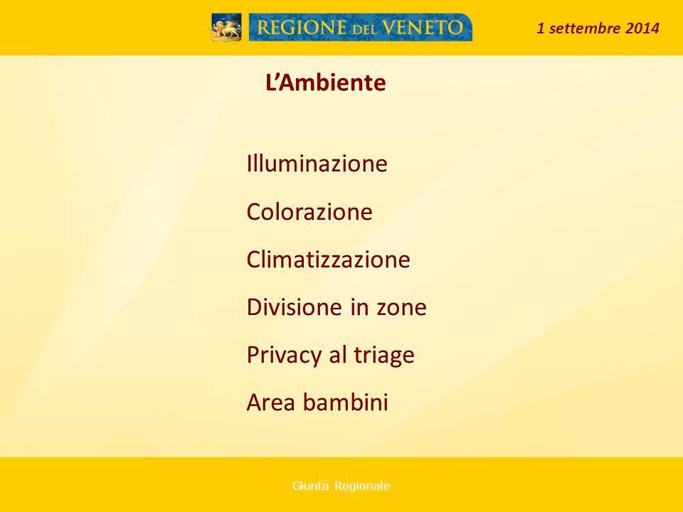 Giunta Regionale L'Ambiente 1 settembre 2014