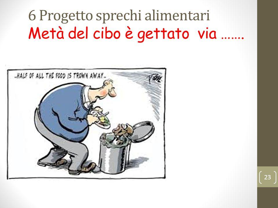 6 Progetto sprechi alimentari Metà del cibo è gettato via ……. 23