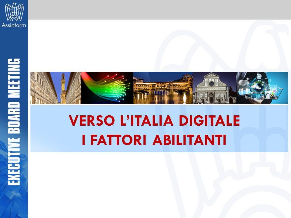 VERSO L'ITALIA DIGITALE I FATTORI ABILITANTI