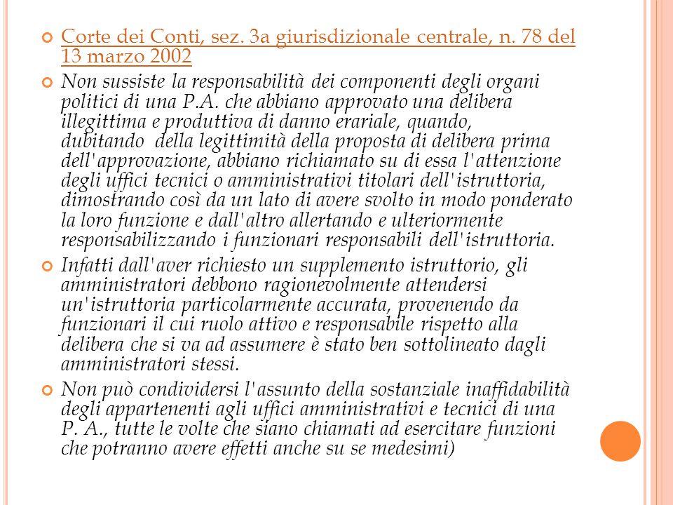 Corte dei Conti, sez. 3a giurisdizionale centrale, n.