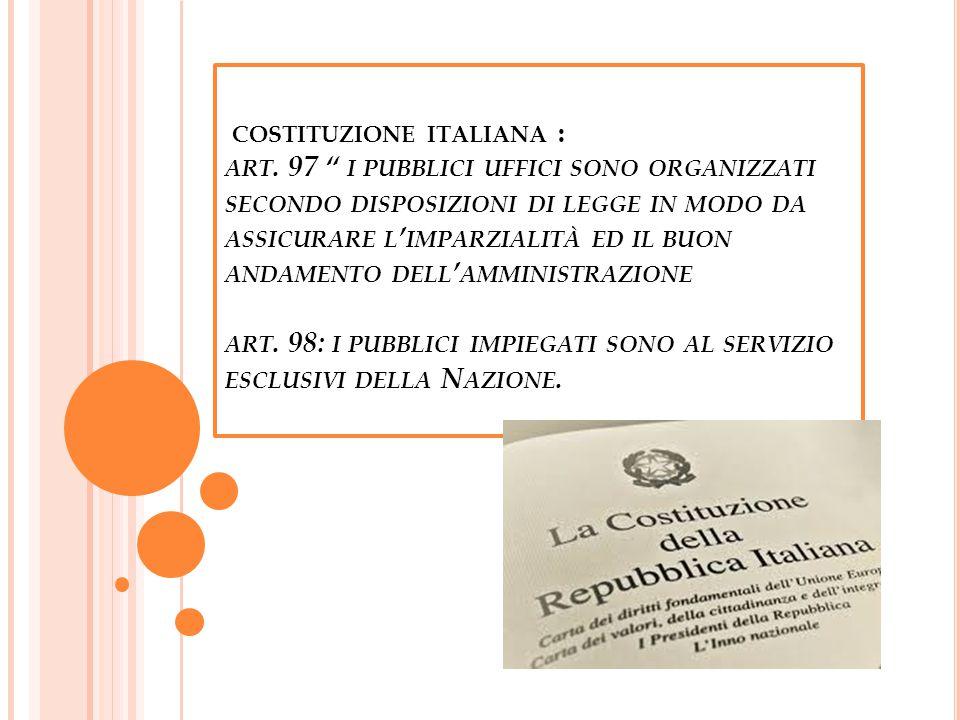 COSTITUZIONE ITALIANA : ART.