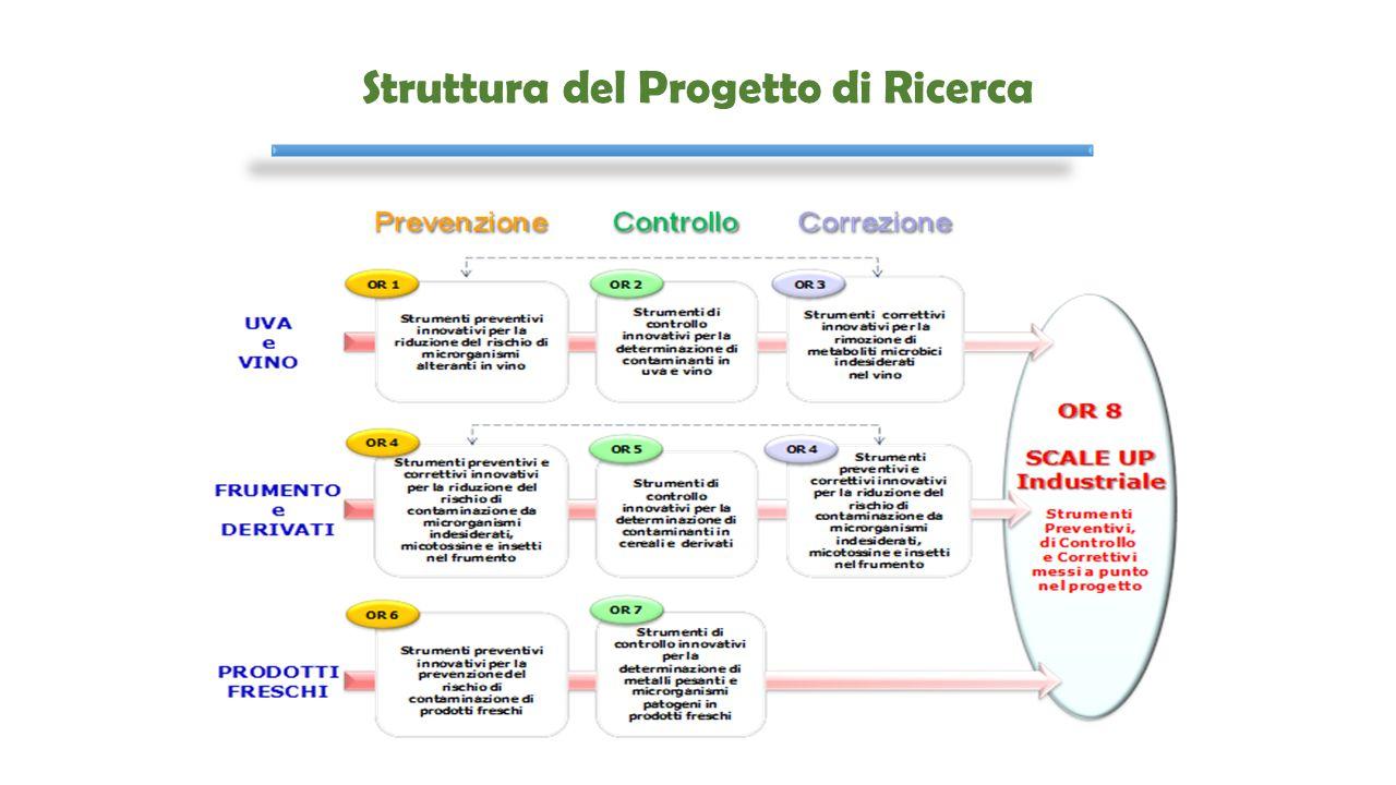 OR 5 – Strumenti di Controllo Innovativi per la Determinazione di Contaminanti in Cereali e Derivati OS 5.2: Messa a punto di una metodica multi-micotossina in cereali e derivati e produzione di materiali di riferimento Partner:  ISPA-CNR (Bari)  Lab.
