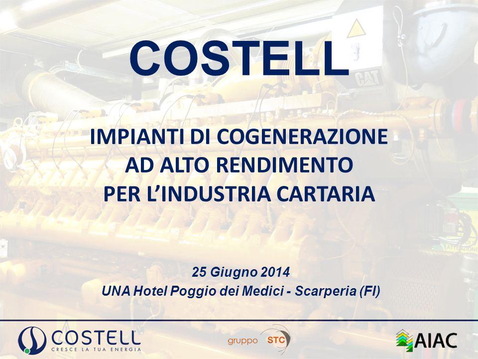 COSTELL IMPIANTI DI COGENERAZIONE AD ALTO RENDIMENTO PER L'INDUSTRIA CARTARIA 25 Giugno 2014 UNA Hotel Poggio dei Medici - Scarperia (FI)