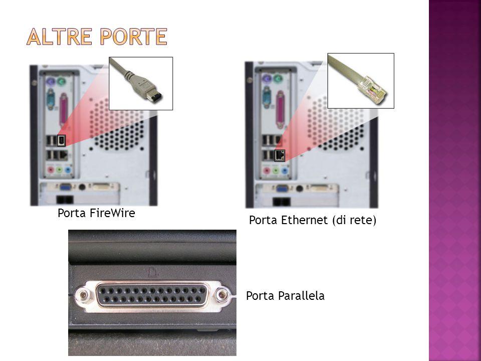 Porta FireWire Porta Parallela Porta Ethernet (di rete)