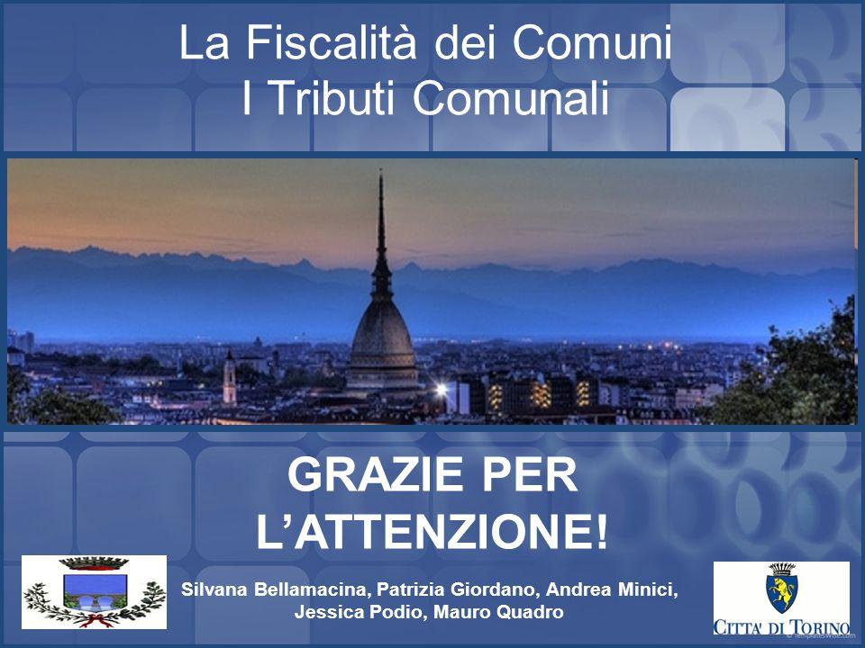 16 La Fiscalità dei Comuni I Tributi Comunali GRAZIE PER L'ATTENZIONE.