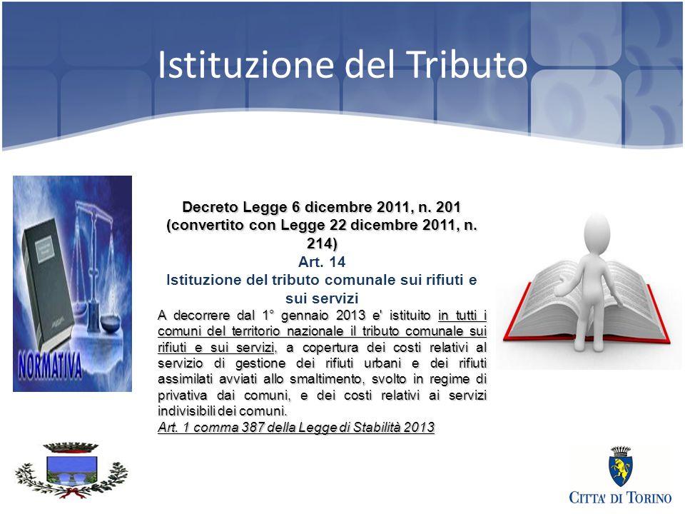 3 Istituzione del Tributo Decreto Legge 6 dicembre 2011, n.