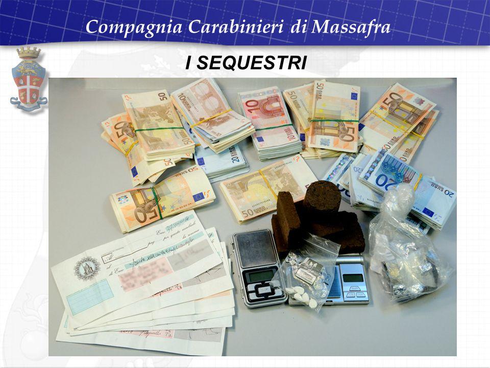 Compagnia Carabinieri di Massafra I SEQUESTRI