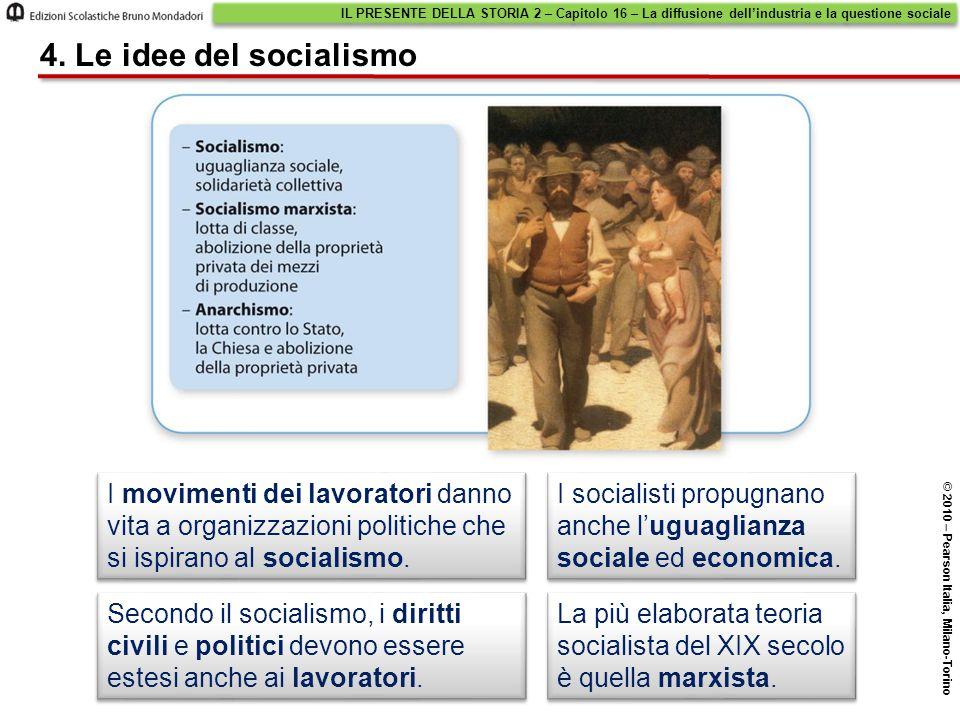 I movimenti dei lavoratori danno vita a organizzazioni politiche che si ispirano al socialismo.