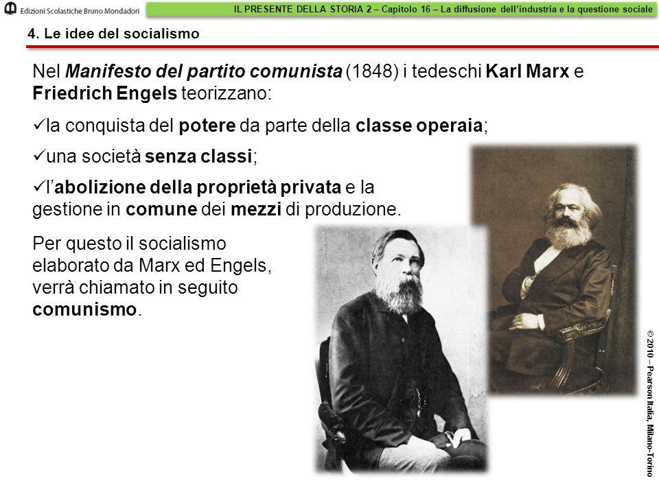 Nel Manifesto del partito comunista (1848) i tedeschi Karl Marx e Friedrich Engels teorizzano: Per questo il socialismo elaborato da Marx ed Engels, verrà chiamato in seguito comunismo.