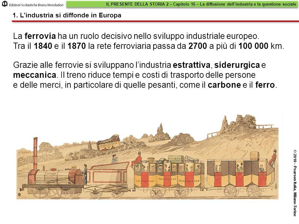 La ferrovia ha un ruolo decisivo nello sviluppo industriale europeo.