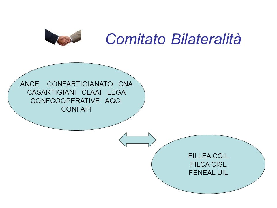 Comitato Bilateralità ANCE CONFARTIGIANATO CNA CASARTIGIANI CLAAI LEGA CONFCOOPERATIVE AGCI CONFAPI FILLEA CGIL FILCA CISL FENEAL UIL