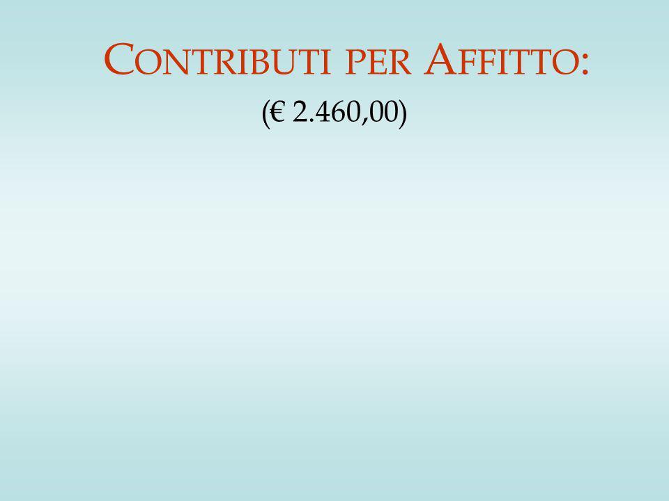 C ONTRIBUTI PER A FFITTO : (€ 2.460,00)