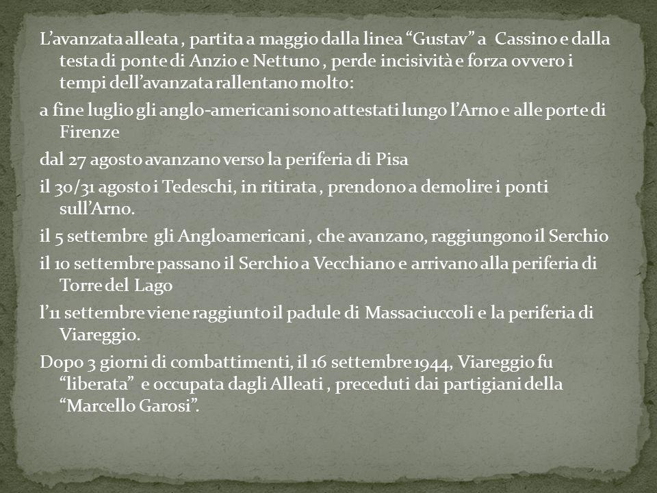 """L'avanzata alleata, partita a maggio dalla linea """"Gustav"""" a Cassino e dalla testa di ponte di Anzio e Nettuno, perde incisività e forza ovvero i tempi"""