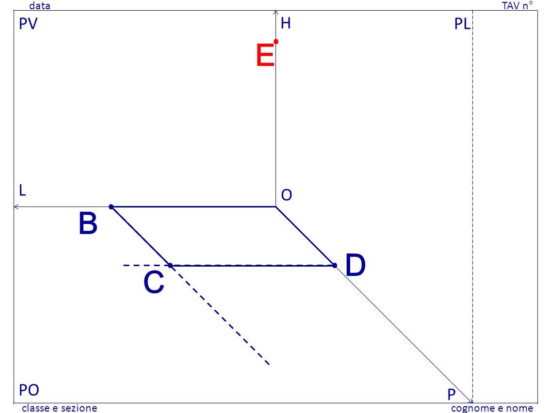 data TAV n° cognome e nomeclasse e sezione data TAV n° cognome e nomeclasse e sezione PV PO PL L H P O B D C E