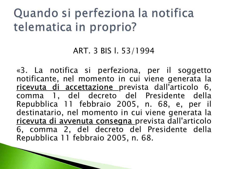 ART.3 BIS l. 53/1994 «3.
