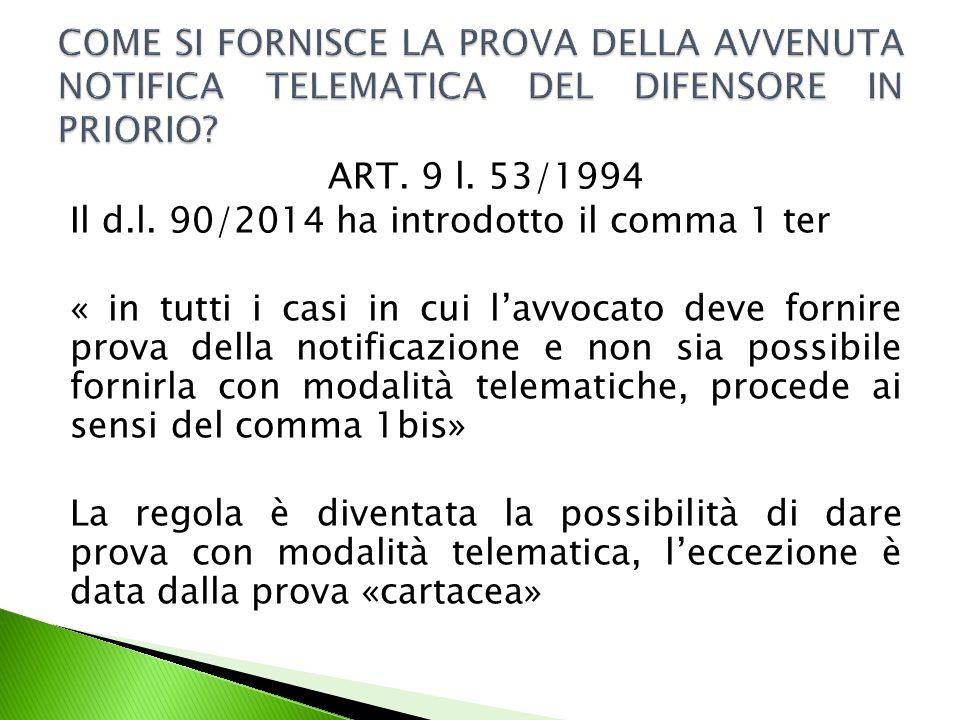 ART.9 l. 53/1994 Il d.l.