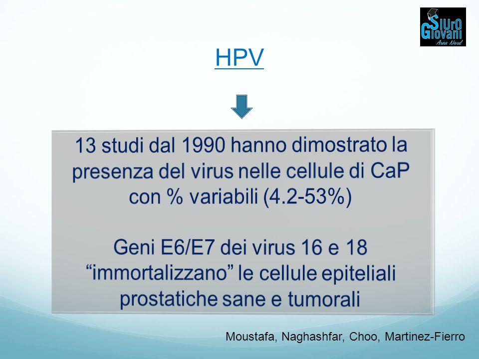 GENETICA DEL CaP e VIRUS XMRV (xenotropic murine leukemia virus) gamma-retrovirus Urisman