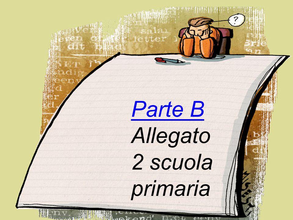 Parte B Allegato 2 scuola primaria