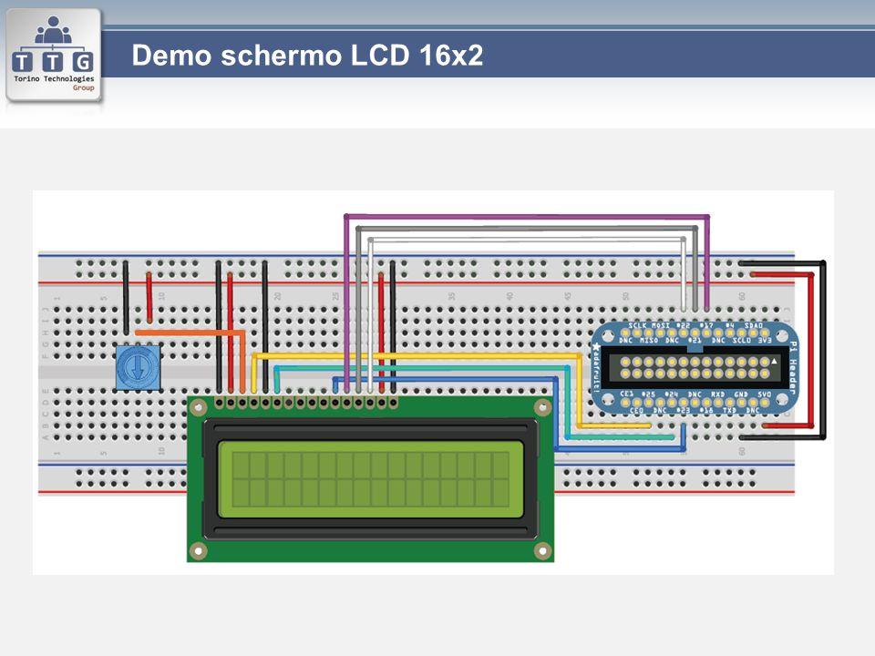 Demo schermo LCD 16x2