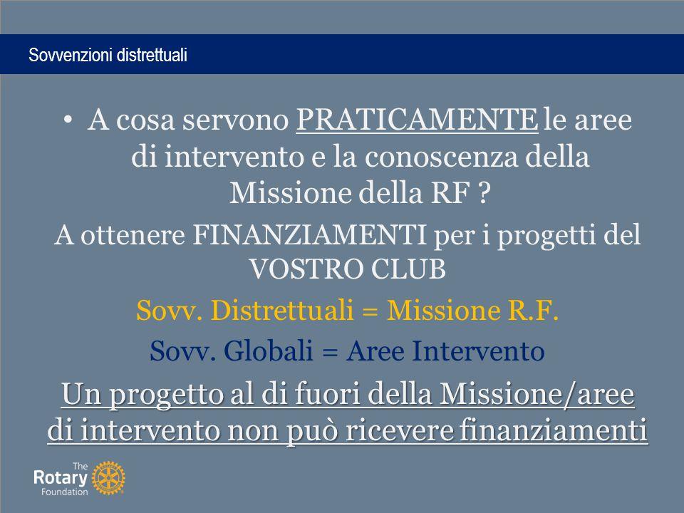 A cosa servono PRATICAMENTE le aree di intervento e la conoscenza della Missione della RF .
