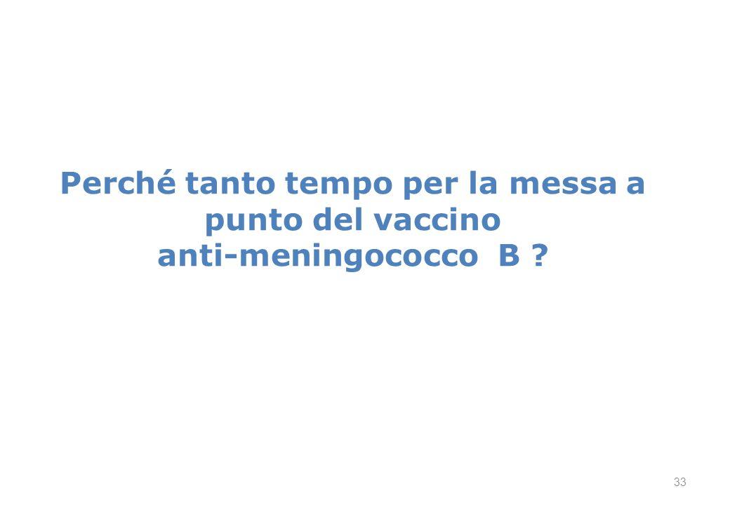 Perché tanto tempo per la messa a punto del vaccino anti-meningococco B ? 33