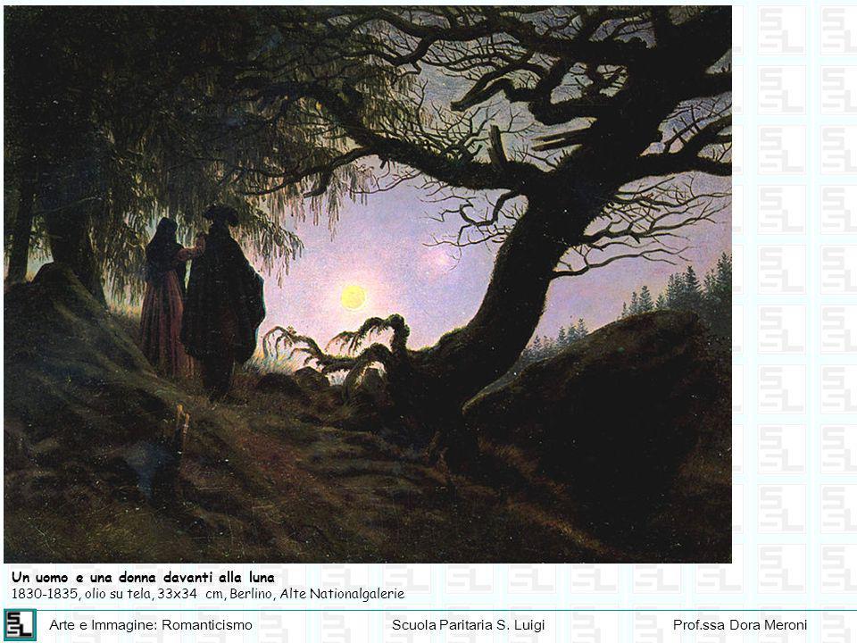 Arte e Immagine: RomanticismoScuola Paritaria S. LuigiProf.ssa Dora Meroni Un uomo e una donna davanti alla luna 1830-1835, olio su tela, 33x34 cm, Be