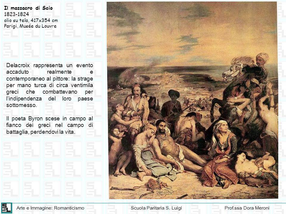 Arte e Immagine: RomanticismoScuola Paritaria S. LuigiProf.ssa Dora Meroni Delacroix rappresenta un evento accaduto realmente e contemporaneo al pitto