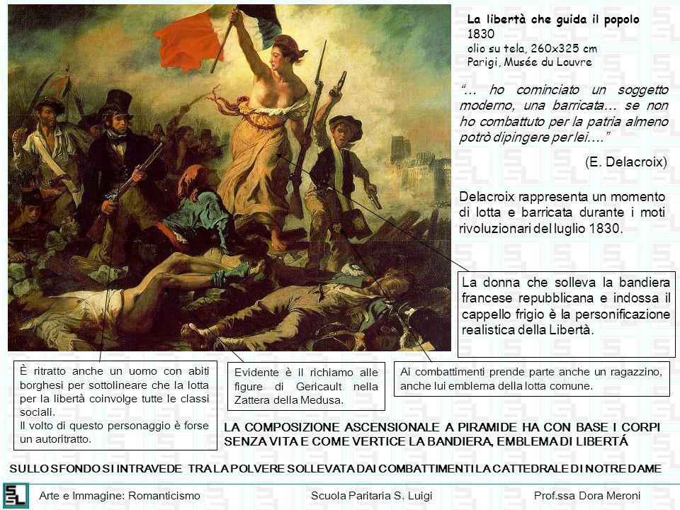 """Arte e Immagine: RomanticismoScuola Paritaria S. LuigiProf.ssa Dora Meroni """"… ho cominciato un soggetto moderno, una barricata… se non ho combattuto p"""