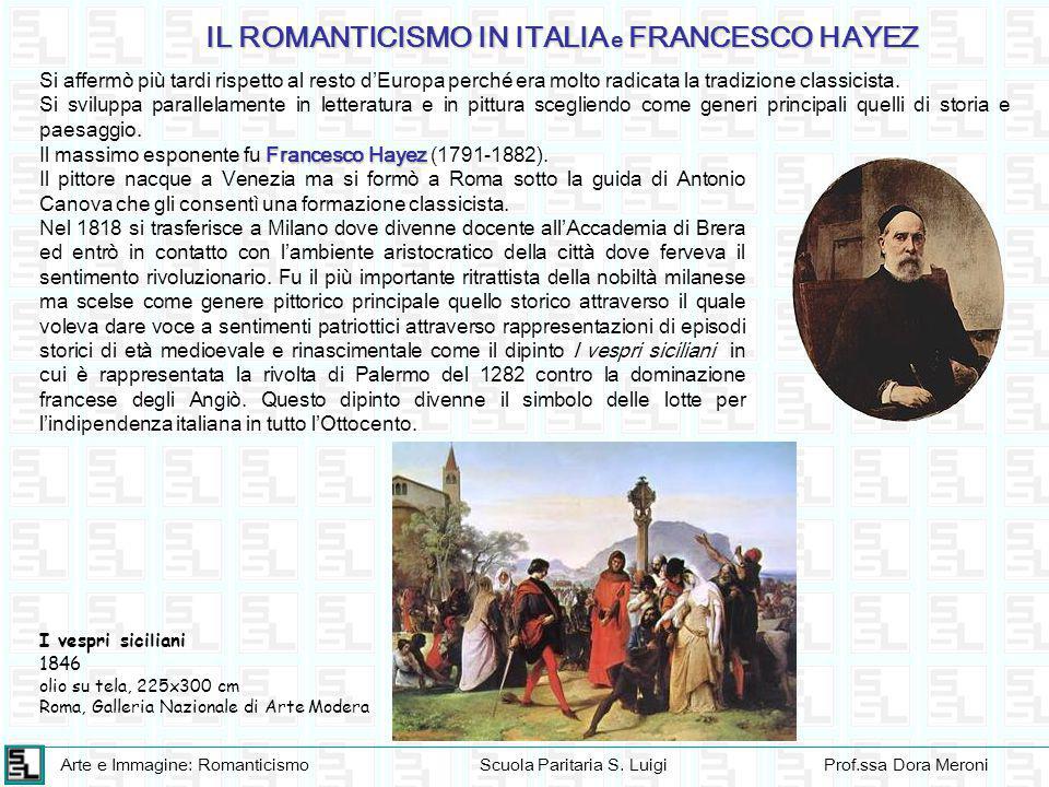 Arte e Immagine: RomanticismoScuola Paritaria S. LuigiProf.ssa Dora Meroni Si affermò più tardi rispetto al resto d'Europa perché era molto radicata l