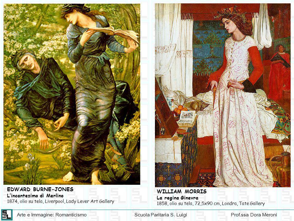 Arte e Immagine: RomanticismoScuola Paritaria S. LuigiProf.ssa Dora Meroni EDWARD BURNE-JONES L'incantesimo di Merlino 1874, olio su tela, Liverpool,