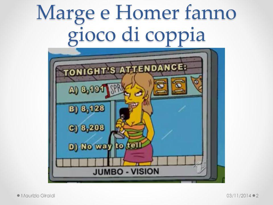 Marge e Homer fanno gioco di coppia 03/11/2014Maurizio Giraldi2