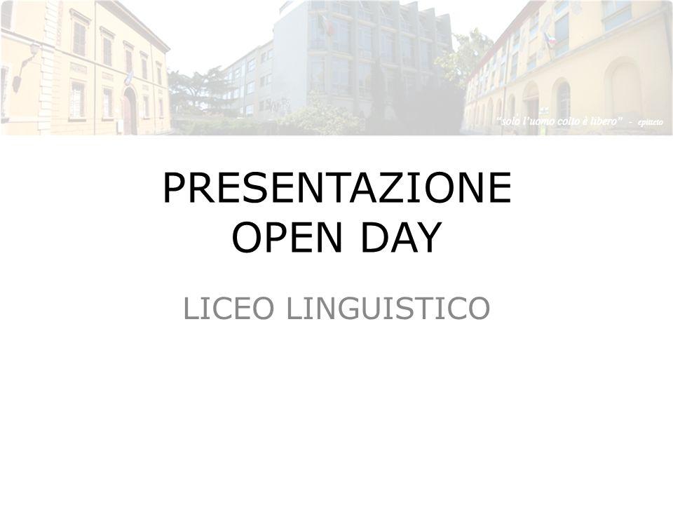 PRESENTAZIONE OPEN DAY LICEO LINGUISTICO