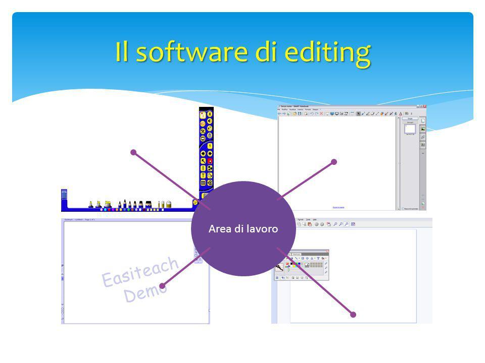 Area di lavoro Il software di editing