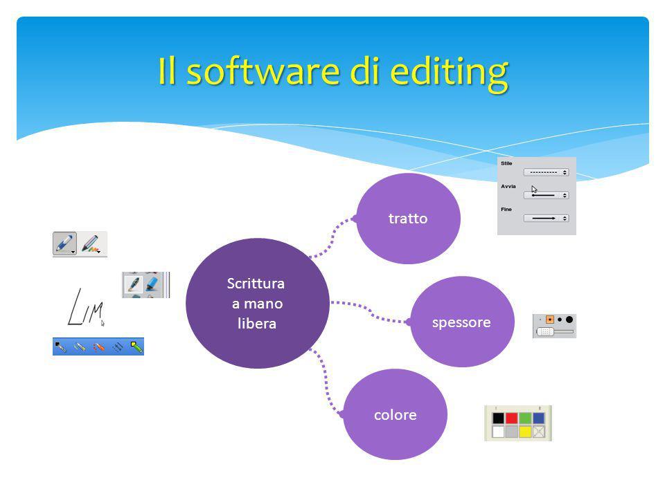 Scrittura a mano libera tratto spessore colore Il software di editing