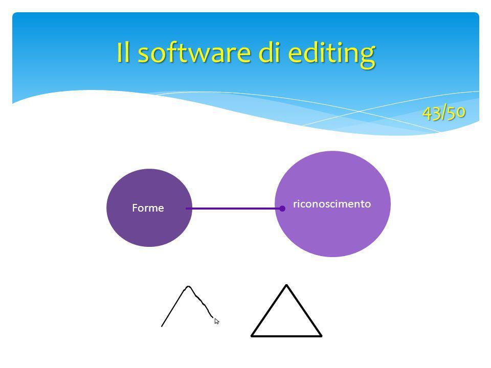 Forme riconoscimento Il software di editing 43/50