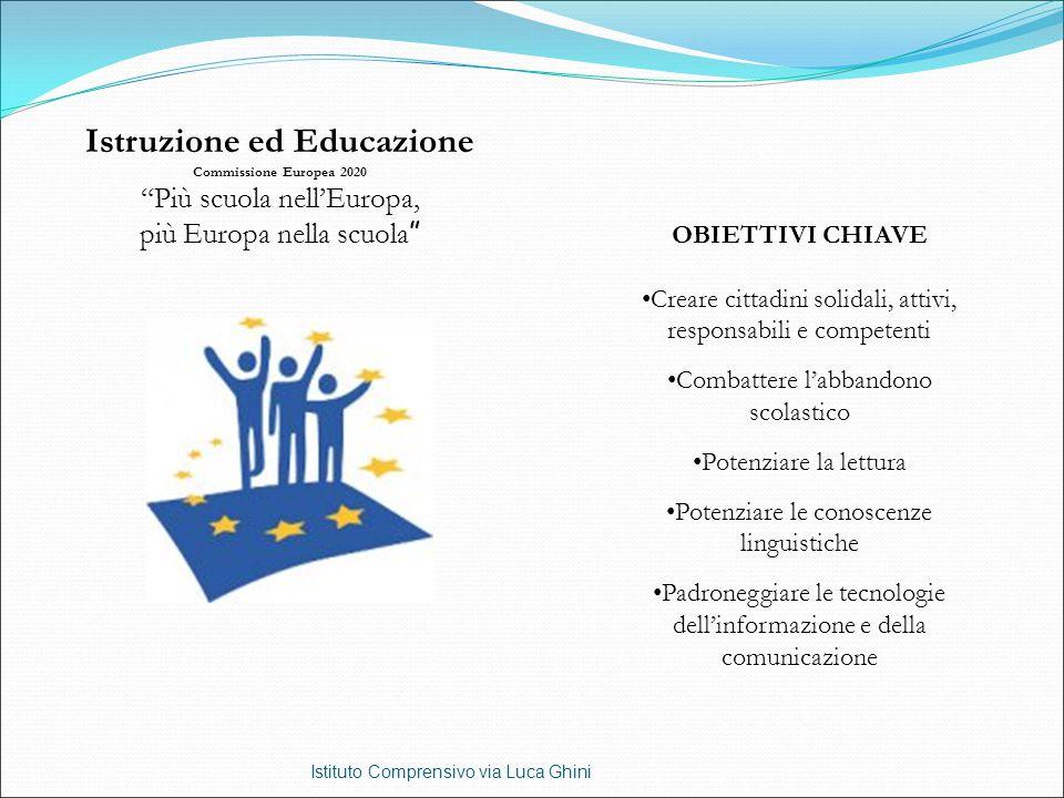 """Istituto Comprensivo via Luca Ghini Istruzione ed Educazione Commissione Europea 2020 """"Più scuola nell'Europa, più Europa nella scuola """" OBIETTIVI CHI"""